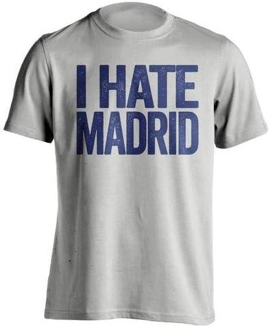 I Hate Madrid – Barcelona FC ventilador camiseta – diseño de texto ...