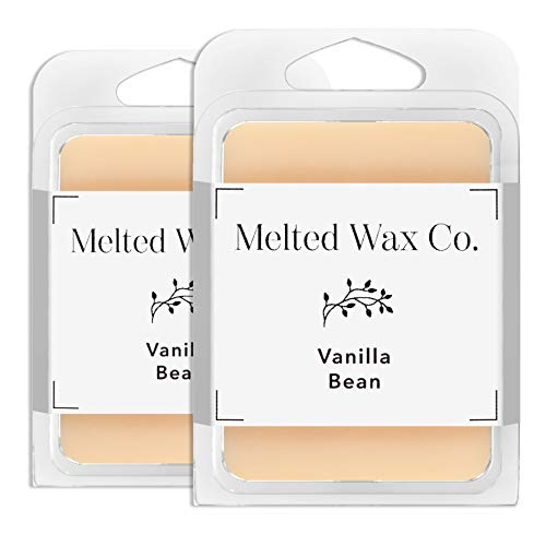 Melted Wax Co. Premium Soy Wax Melts | Highly Scented 100% Soy Wax | Long Lasting & Richly Scented Cubes | Vegan & Animal Cruelty Free | Paraffin Free | 6 oz in 2 Packs (Vanilla Bean)