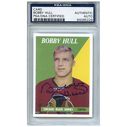 - Bobby Hull Autographed Signed Hockey Trading Card Chicago Blackhawks PSA/DNA #
