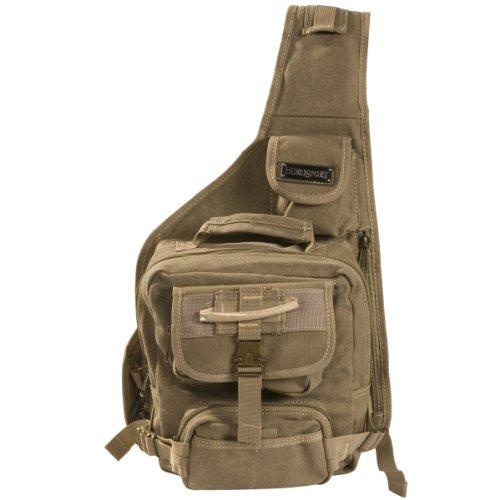 Eurosport Urban Style Canvas Sling Backpack B411, Khaki. (Eurosport Canvas Backpack)