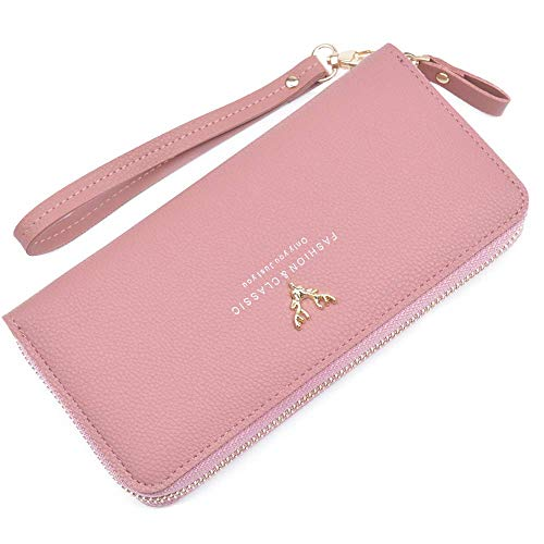 Long Wallet Purse For Women Girls Pu Large Capacity Zipper Clutch Japan Korea