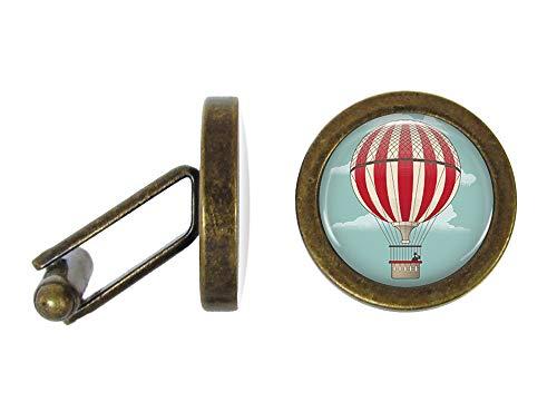 Oakmont Cufflinks Hot Air Balloon Cufflinks Balloon Cuff Links (Angled Edition) ()