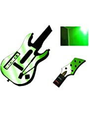 Green Chrome Mirror Vinyl Decal Faceplate Mod Skin Kit for Nintendo Wii Guitar Hero 5 (GH5) World Tour by System Skins