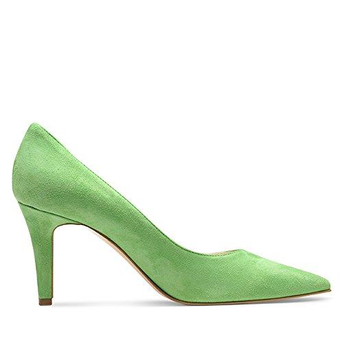 verde de Evita Piel mujer Zapatos Verde claro de Shoes para vestir 6SOgzq