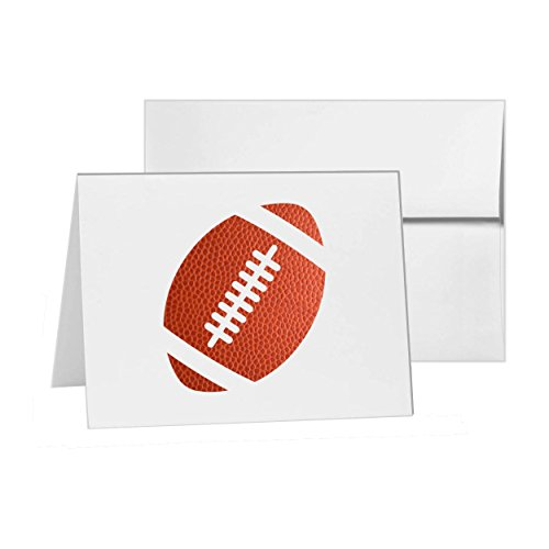 Football Fitness Lifestyle Health, Blank Card Invitation Pack, 15 cards at 4x6, with White Envelopes, Item 153064