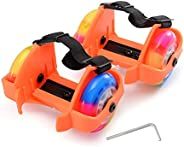 Heel Wheel Skate ALUNYAN Adjustable Kids Roller Skat Shoes Two Rounds Roller Skate Weight Limit 110 Pounds Lig