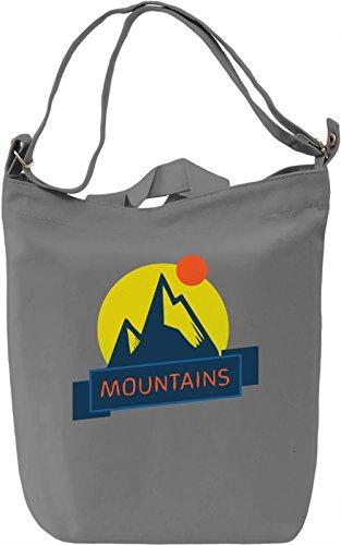Many Mountains Borsa Giornaliera Canvas Canvas Day Bag| 100% Premium Cotton Canvas| DTG Printing|