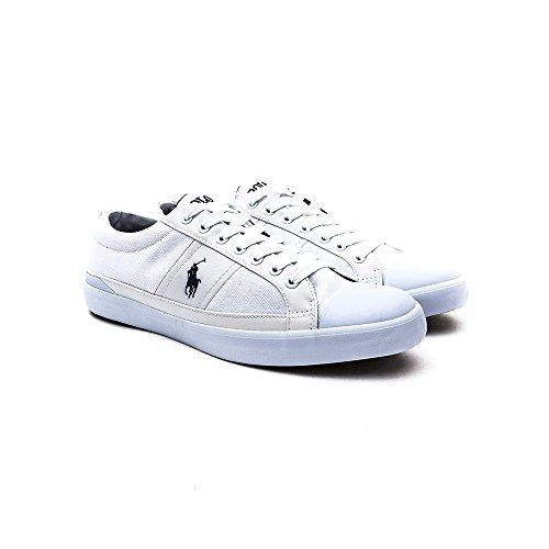 A85 C0225 Herren Schuhe Y2126 Sneaker Churston Polo Turnschuhe Ralph Lauren Pure White A1557 Weiß Weiß Zqx8IwvF