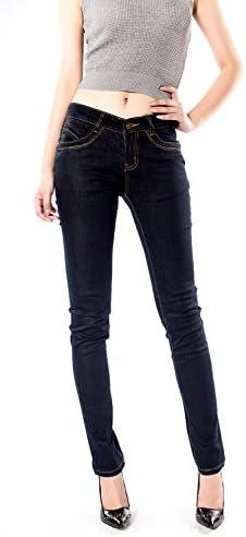 レディース デニム ジーンズ コットン 修身 スリム タイトパンツ 大きいサイズ 美脚 パンツ 205-120