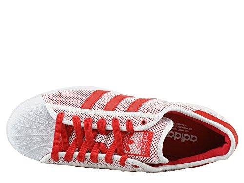 adidas Superstar, Scarpe da Ginnastica Donna Bianco-rosso