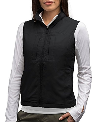 Outerwear Feather (SCOTTeVEST Women's Featherweight Vest - 16 Pockets - Travel Clothing BLK L)