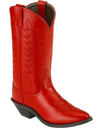 Old West Women's Corona Cowgirl Boot Medium Toe Red 7 M US (Old West Outfit)