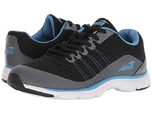 Avia Women's Avi-Rove-II Walking Shoe, Black/Iron Grey/Blue Star,