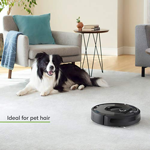 iRobot Roomba i7+ (7550) Robot Vacuum with Automatic Dirt Disposal- Wi-Fi Connected, Smart Mapping, Works with Alexa, Ideal for Pet Hair, Carpets, Hard Floors