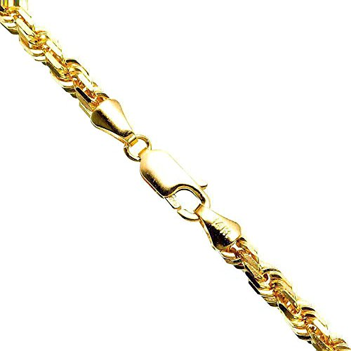 IcedTime 14K YELLOW Gold SOLID ROPE Chain - 24 inch Long 5mm Wide by IcedTime (Image #4)