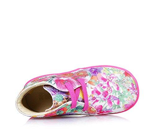 FALCOTTO - Zapato de cordones multicolor de tejido, ideal para el gateo y los primeros pasos, flexible y c?modo, niña, niñas Rosa