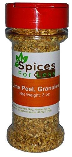 SFL Lime Peel, Granules - 3 oz Stovetop Shaker Jar - Kosher