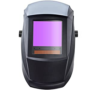 "Antra Welding Helmet Auto Darkening AH7-860-0000 Huge Viewing Size 3.86X3.5"" Wide Shade Range 4/5-9/9-13 Great for TIG MIG/MAG MMA Plasma, Grinding, Solar-Lithium Dual Power, 6+1 Extra Lens Covers by Antec Trade and IT Consulting Inc."