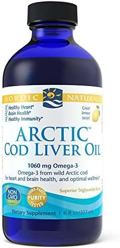 Nordic Naturals - Arctic CLO, Heart and Brain Health, and Optimal Wellness, Lemon, 8 Ounces