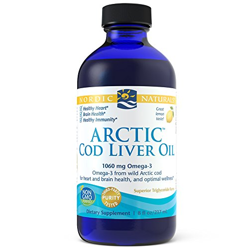 Nordic Naturals - Arctic CLO, Heart and Brain Health, and Optimal Wellness, Lemon, 8 - Natural Lemon