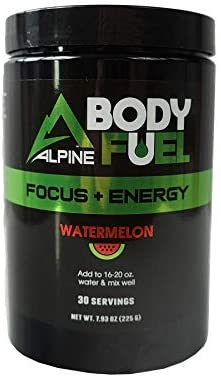 Alpine Innovations Body Fuel Focus Energy – Great Tasting Supplement Made to Enhance Focus and Provide Energy Without The jitters. 30 Scoop Tub, Watermelon