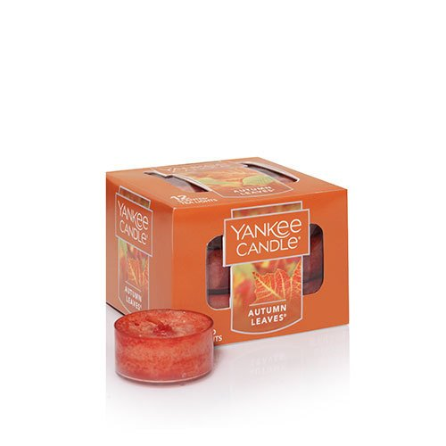 Yankee Candle Autumn Leaves Tea Light Candle, Fresh Scent