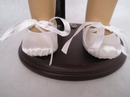 White Ballet Shoes for 18 Inch Dolls Including the American Girl Line, Baby & Kids Zone