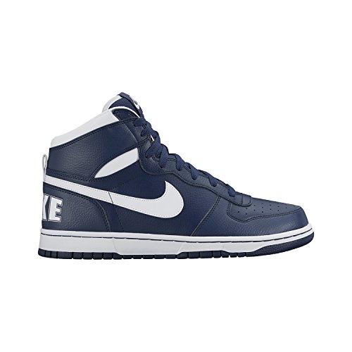 (Nike Mens Big High Basketball Shoe Midnight Navy/White 9)