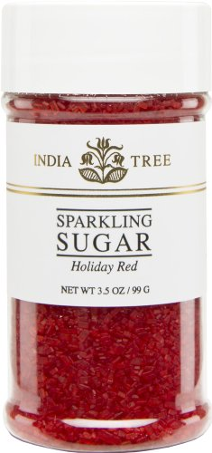 India Tree Holiday Red Sugar Sprinkles 10212 , 3.5 Oz