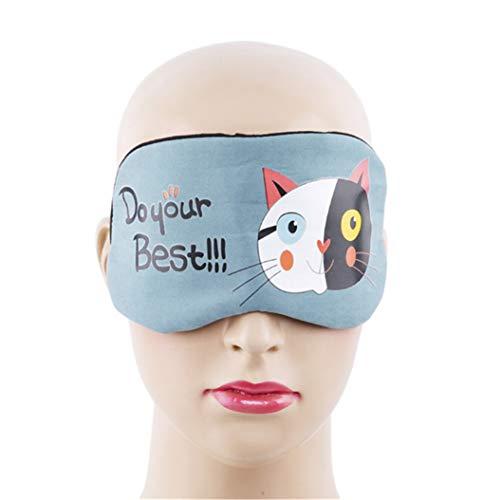 LZIYAN Sleeping Mask Cartoon Cat Sleep Eye Mask Breathable Travel Shade Cover Rest Relax Sleeping Blindfold Eye Patch,Blue by LZIYAN (Image #3)