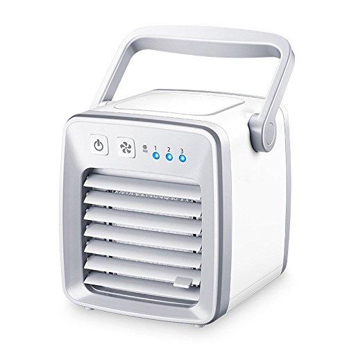 GUOYAJF Mini Aire Acondicionado Portátil, Ventilador De Aire Personal Ventilador De Aire Ventilador, La Manera Rápida Y...