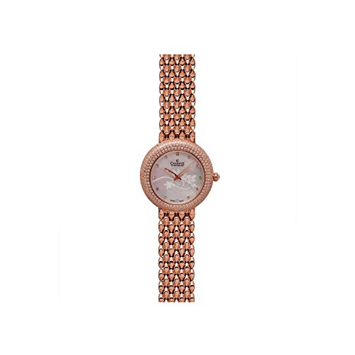Charmex Las Vegas 6300 35mm Rose Gold Steel Bracelet & Case Synthetic Sapphire Women's Watch