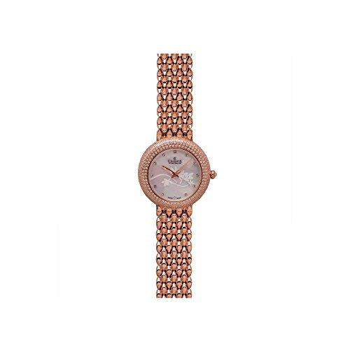 Charmex Las Vegas 6300 35mm Rose Gold Steel Bracelet & Case Synthetic Sapphire Women's Watch