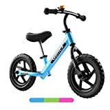 Gonex Kids Balance Bike 12 Inch No Pedals for 2, 3, 4, 5 Years Old Boys Girls Toddler Balance Bike with Aluminum Alloy Frame & EVA Foam Tires/Hi-Ten Steel Frame & Inflatable Rubber Tires