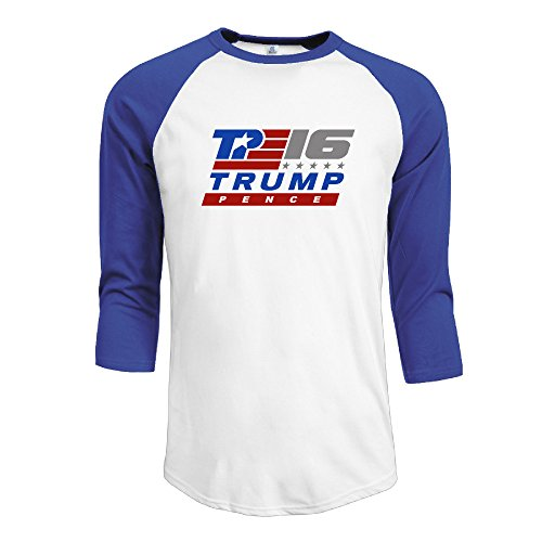 Donald Trump 2016 Mike Pence Men Athletic 3/4 Sleeve Cotton Tee