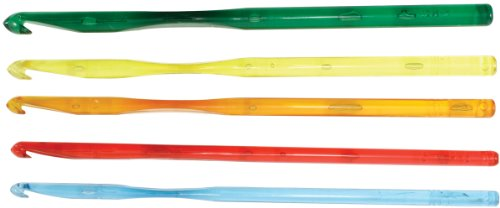 Crystalites 12408 Acrylic Crochet Hook Gift - Acrylic Heart Hook Crochet