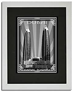 Photo of Damac Tower-Black And White With Silver Border F02-NM (A4)