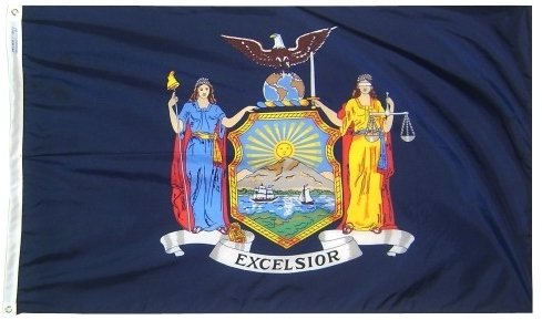 3x5' New York State Flag - Heavy Weight Nylon Flag From All