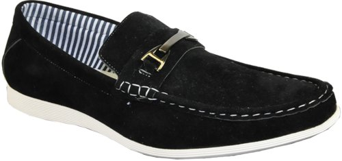 CORONADO Men Casual Shoe CODY-2 Comfort Loafer Style with a Moc-Stitched Toe and Buckle Details Black - Buckle Cody