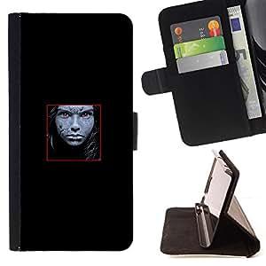 Jordan Colourful Shop - Face Abstract For Apple Iphone 6 PLUS 5.5 - < Leather Case Absorci????n cubierta de la caja de alto impacto > -