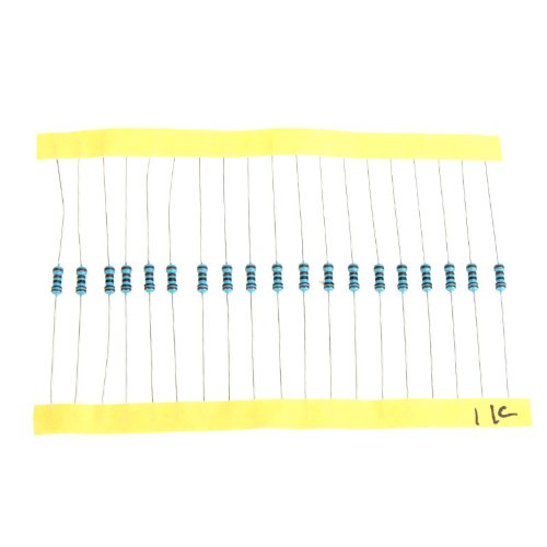 EverTrust(TM)Metal Film Resistors Assortment Kit Set 1280pcs 64 Values 1 ohm - 10M ohm 1/4W Ohm Mixer
