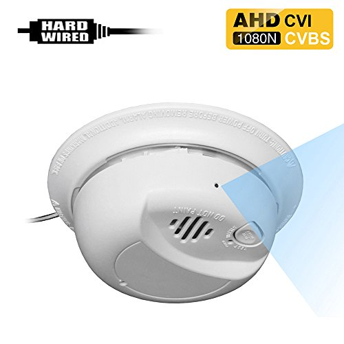 AHD-404H 1080P 2.0MP HD Spy Hidden AHD/CVI / CVBS (Composite Video) Side-View Fake Smoke Detector Camera with 940nM Pinhole Lens.