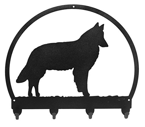 BELGIAN SHEEPDOG Metal Key Chain Hanger - Leash Holder