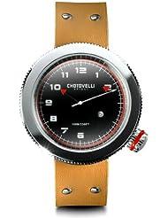 Chotovelli Gauge Mens Watch Alfa Romeo dial Tan leather Strap 40.02