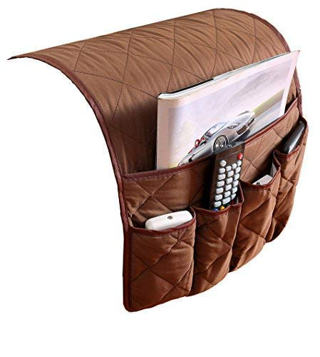 PUTING Sofa Couch Armrest Cover Double Sided Waterproof Armrest Organizer, Fits for Phone, Book, Magazines, TV Remote Control