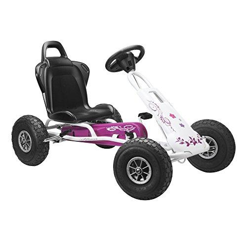 Ferbedo 005717 - Go-Kart Air Runner, weiß/rosa