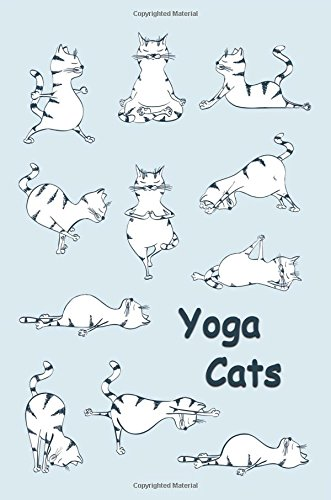 Journal: Yoga Cats (Blue) 6x9 - GRAPH JOURNAL - Journal with graph paper pages, square grid pattern (Cats and Kittens Graph Journal Series)