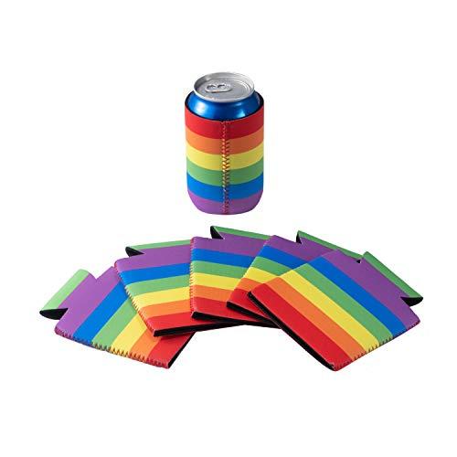 12 Pack Can Coolers Sleeves Neoprene Can sleeve Blank Beer Drink Coolies for Weddings, Parties, Events - FUNLAVIE