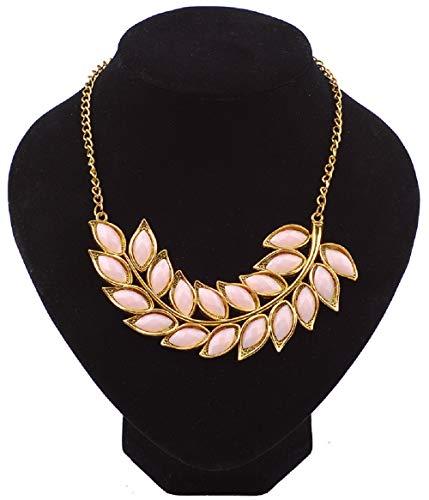 Wcysin Women Girls Bohemia Necklace Crystal Chain Pendant Jewelry (Pink)