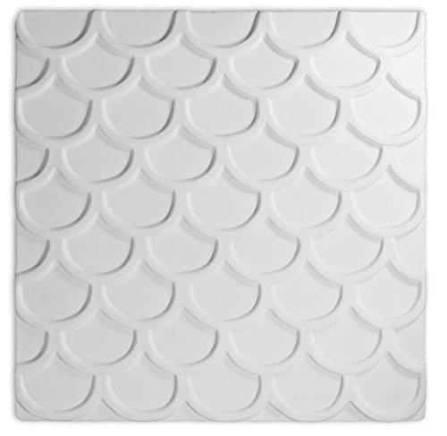 Retro Pattern Large Textured Fusing Tile - Fusible Glass Slumping (Glass Fusing Textured Tile Mold)